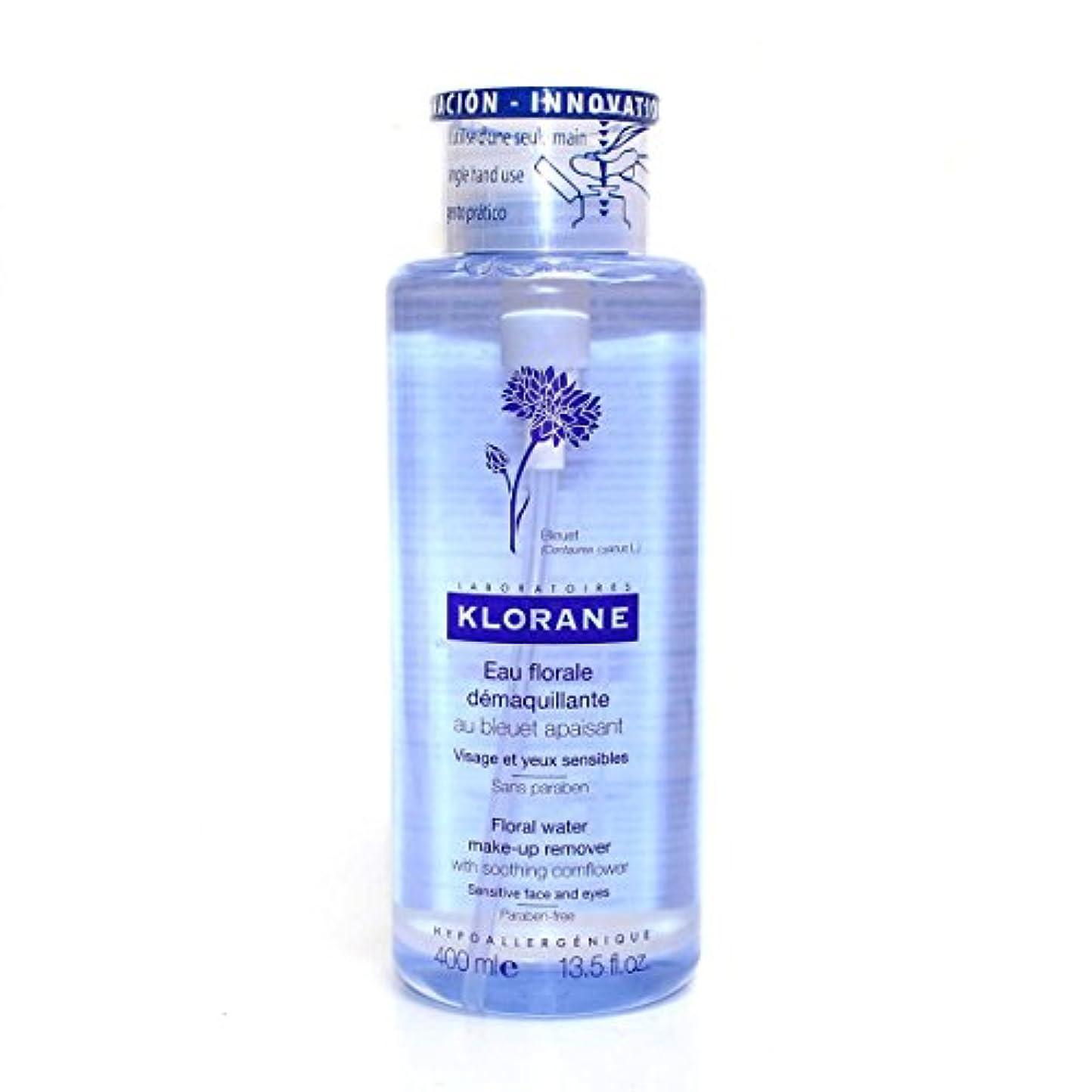 痛みスクラップブックやむを得ないKlorane Floral Water Cleanser Face And Eyes 400ml [並行輸入品]