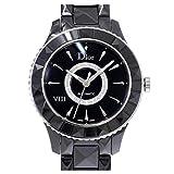 クリスチャン ディオール Christian Dior ユイット メンズ 腕時計 ダイヤ ブラック セラミック CD1245E0 ウォッチ 【中古】 90057793 [並行輸入品]