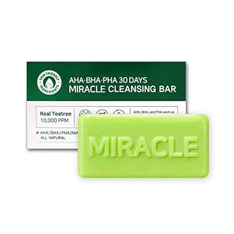 悪因子四分円実行可能[SOME BY MI/サムバイミー] AHA BHA PHA 30Days Miracle Cleansing Bar 95g/AHA BHA PHA 30デイズ ミラクル 洗顔 石けん 95g [並行輸入品]