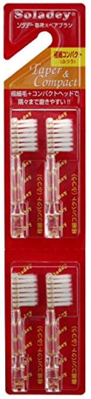 克服する形状シンポジウムシケン ソラデー専用スペアブラシ コンパクト 極細毛 4本入