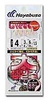 ハヤブサ(Hayabusa) 太ハリスサビキ 蓄光スキン レッド 6-5 HS415-6-5