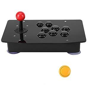 USB クラシックゲームコントローラ ジョイスティックアーケード PC用 ハンドルボタン ファイティングスティック リアルアーケード