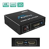 HDMI分配器 2出力 KELIIYO HDMIスプリッター  hdmi 2分配器 4K/3D対応 HDTV/Xbox/PS4/DVDプレーヤー等対応