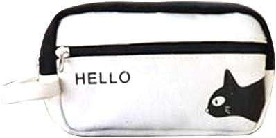 Pencil case Big Capacity Double zipper Pen Pencil Stationery Pouch Bag Pen Case Desk Organizer with Zipper for School &...