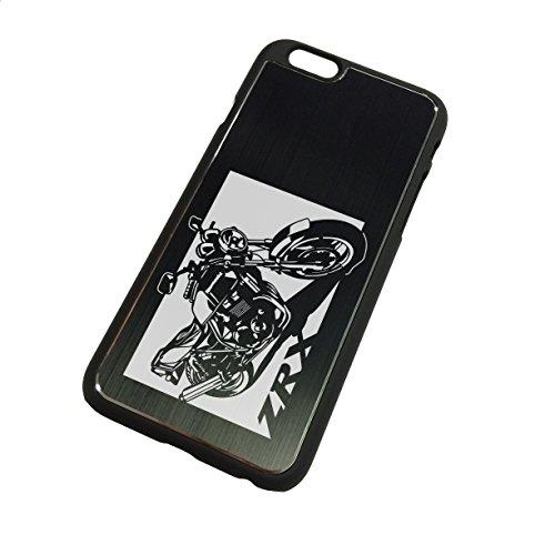 iPhone6ケース「カワサキ(KAWASAKI) ZRX400 」切り絵デザイン ブラックアルマイト[BI6-018]