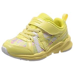 [シュンソク] 運動靴 通学履き 瞬足 幅広 衝撃吸収 高反発 15~23cm 15cm~23cm キッズ 女の子 イエロー 19 cm 3E