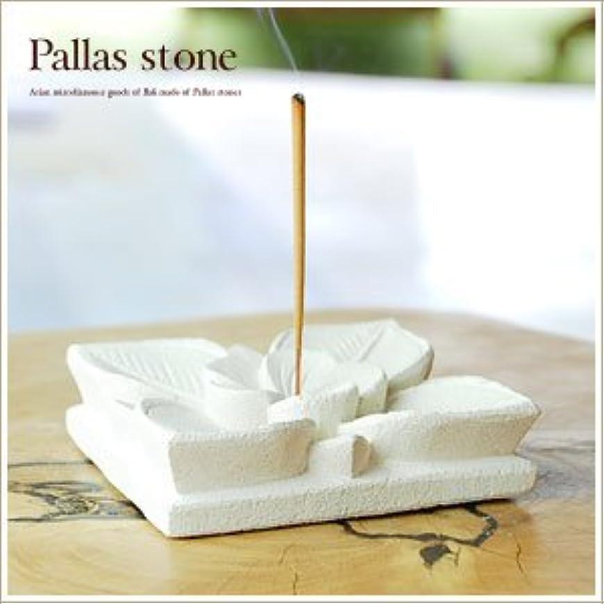 【アジア工房】パラス石を彫って作ったプルメリアモチーフのお香立て[大][10137] Aタイプ [並行輸入品]