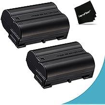 Pack of 2 EN-EL15 High Capacity Batteries for Nikon D850 D750 D500 D7000 D7100 D7200 D7500 D600 D610 D810 D800 D810A 1V DSLR Cameras