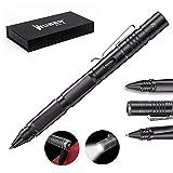 WUBEN タクティカルペン USB充電式LEDライト搭載 防犯用タングステンボールペン 高品質ボールペン芯内蔵 多機能ペン (黒い)