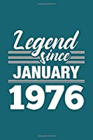 Legend Since January 1976 Notebook: Lined Journal - 6 x 9, 120 Pages, Affordable Gift, Teal Matte Finish