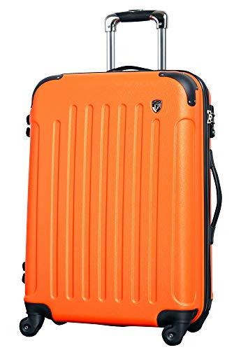 LM【マットA】オレンジ / newFK10371 スーツケース キャリーバッグ 軽量 TSAロック 大 (5~10日用) マット加工 ファスナー開閉タイプ