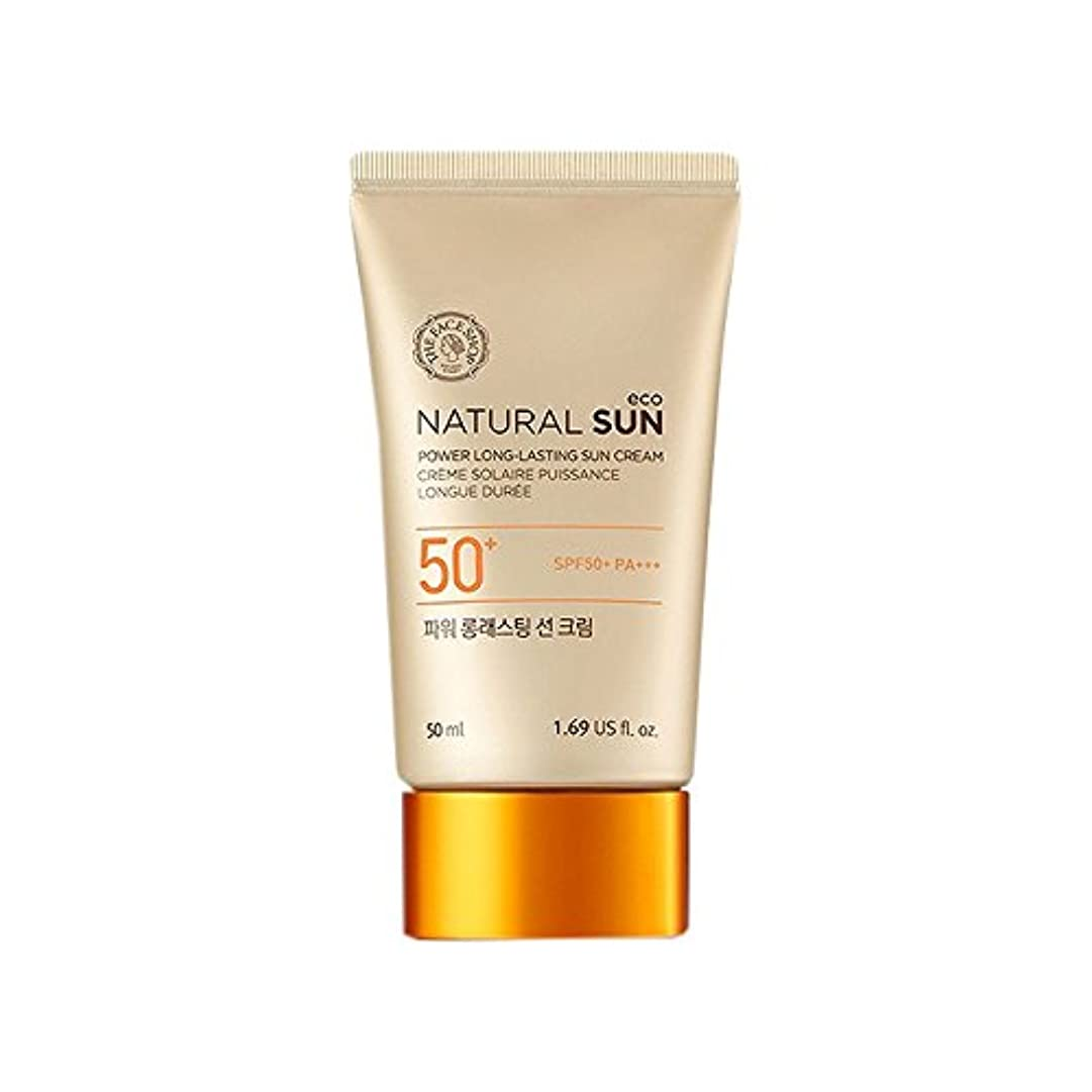 歯車閃光ギャップ[ザ?フェイスショップ] The Face Shop ナチュラルサン エコ パワー ロングラスティング サン クリーム SPF50+PA+++50ml The Face Shop Natural Sun Eco Power...