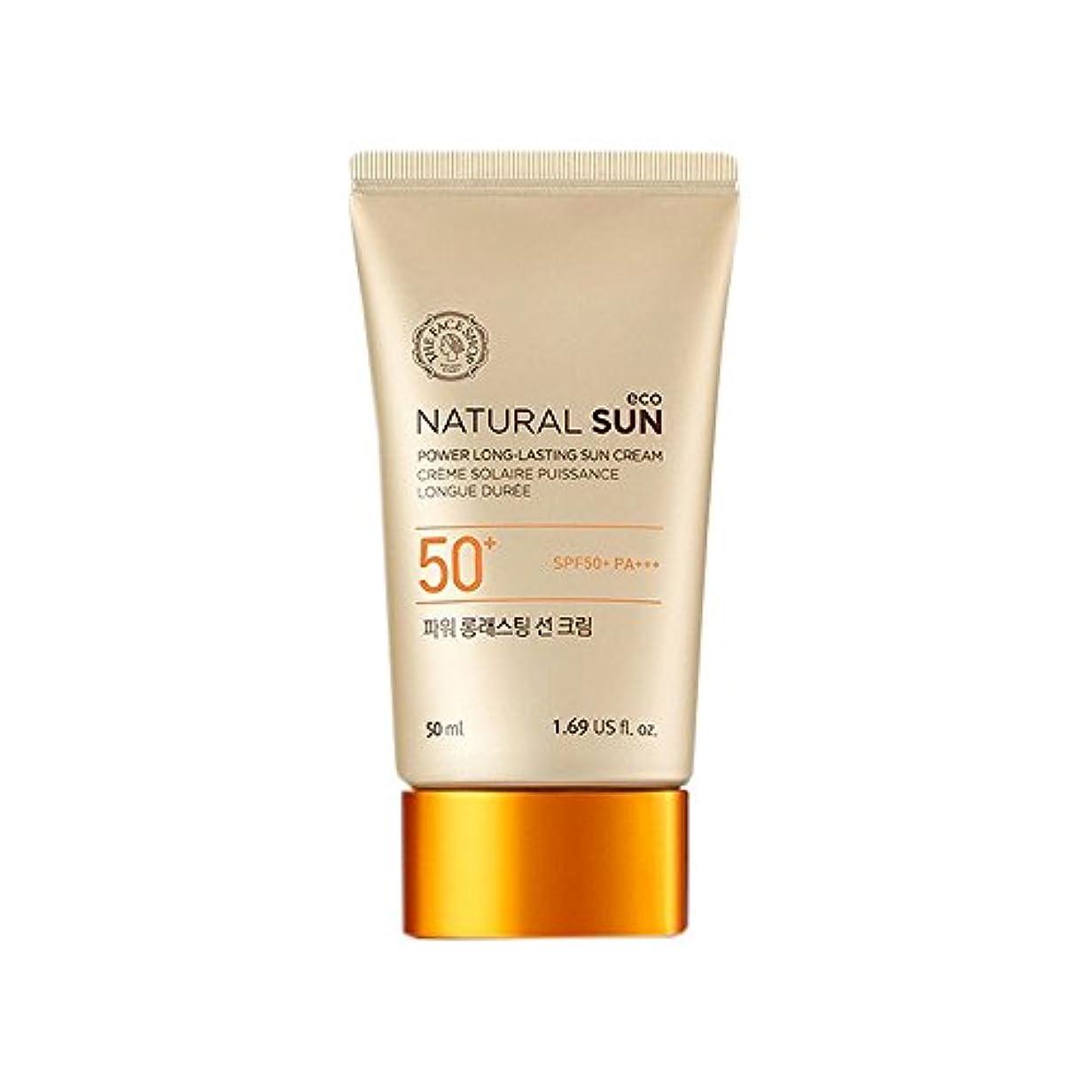 日常的に類推ボトル[ザ?フェイスショップ] The Face Shop ナチュラルサン エコ パワー ロングラスティング サン クリーム SPF50+PA+++50ml The Face Shop Natural Sun Eco Power...
