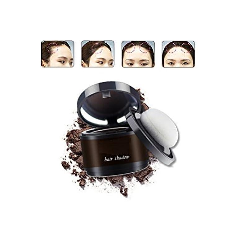 会話サイドボード全体MakeupAcc ヘアラインシャドーパウダー 髪パウダー 防水 汗防ぐ 髪の生え際糸調整 白髪をカバー 4色オプション (グレー) [並行輸入品]