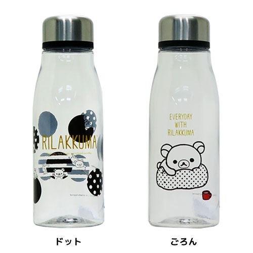 リラックマ[水筒]スタイリッシュブローボトル/モノクロ サンエックス【ドット 】