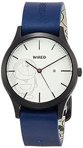 [セイコーウォッチ] 腕時計 ワイアード ドラえもんデザイン限定 限定1,200本 ホワイト文字盤 カーブハードレックス AGAK710 ブルー