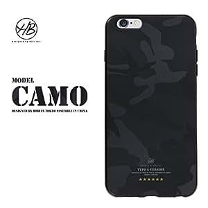&y HB 【iPhone6s Plus / iPhone6 Plus 両対応】 5.5インチ ソフトTPUケース 迷彩 IMDマット印刷 BLACK CAMO(カモフラージュ) 黒