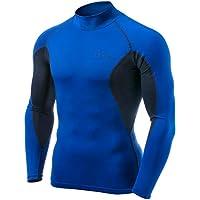 (テスラ) TESLA メンズ 長袖 ハイネック スポーツシャツ [UVカット・吸汗速乾] メッシュ MUT