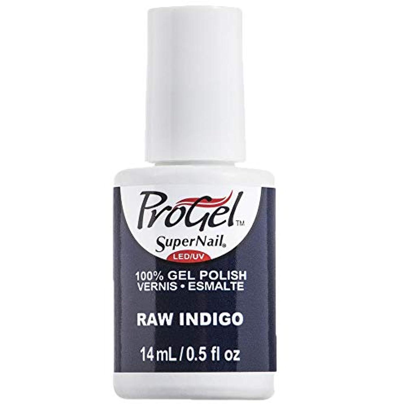 挽くアジテーションスコットランド人SuperNail ProGel Gel Polish - Raw Indigo - 0.5oz / 14ml