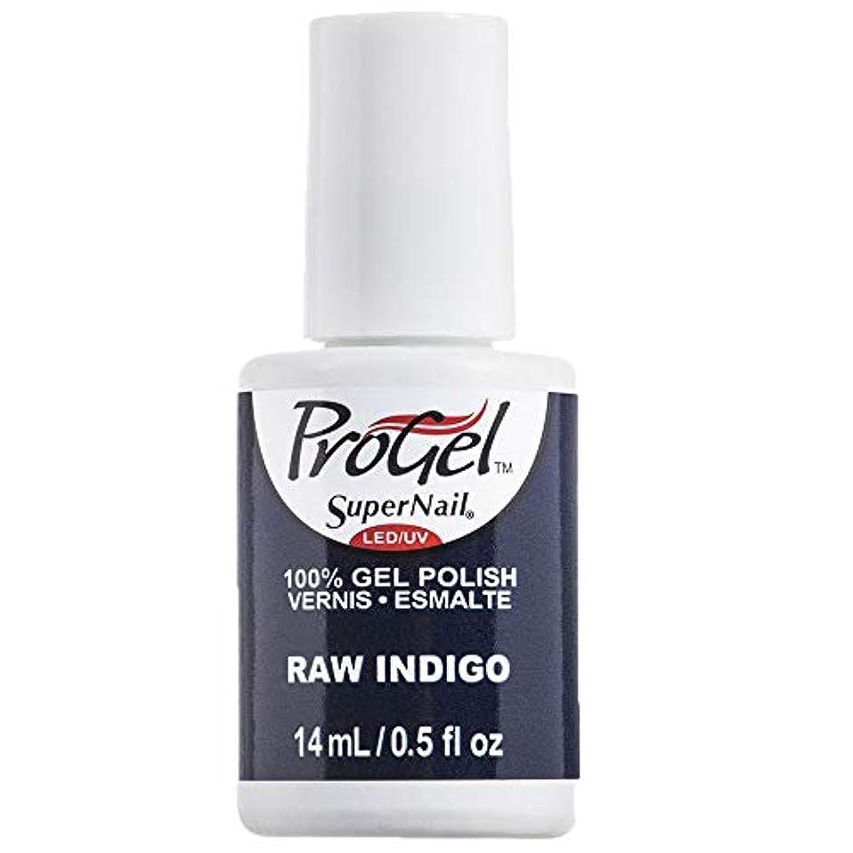 時制トレッド司教SuperNail ProGel Gel Polish - Raw Indigo - 0.5oz / 14ml