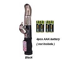 Yumbyss - 女性オナホールマッサージャー女性デュアルまたはG Spottorバイブレータ用12のスピード振動&回転ウサギバイブレーター[ブラック]