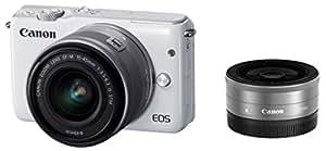 Canon ミラーレス一眼カメラ EOS M10 ダブルレンズキット(ホワイト) EF-M15-45mm F3.5-6.3 IS STM EF-M22mm F2 STM 付属 EOSM10WH-WLK