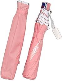 オンブレッロ・ジウ 子供 折たたみ傘 50cm 8本骨 簡単開閉 透明窓 反射テープ付 【指を挟みにくい安全開閉】 SC-5029
