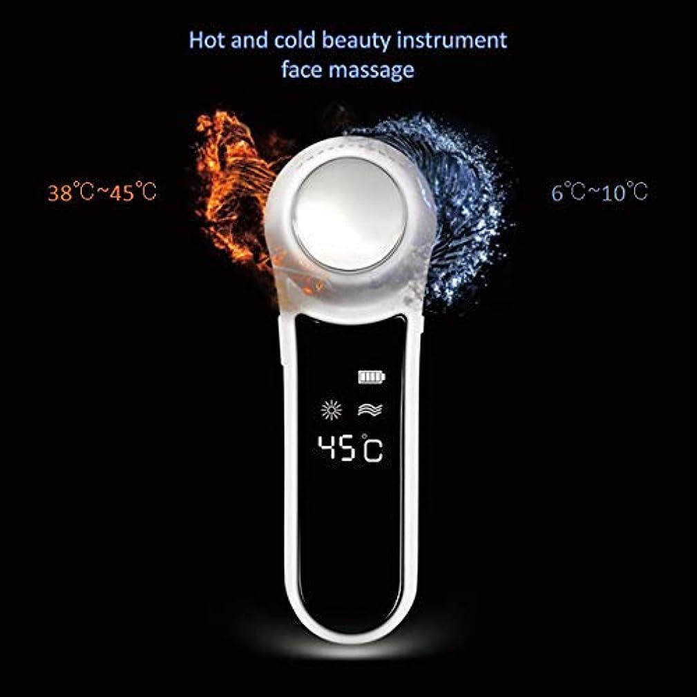 ガイド注入悪性腫瘍フェイシャルマッサージ、高周波振動加熱イオン導入マッサージ、多機能美容機器振動ホットロンクリーニングマスク楽器