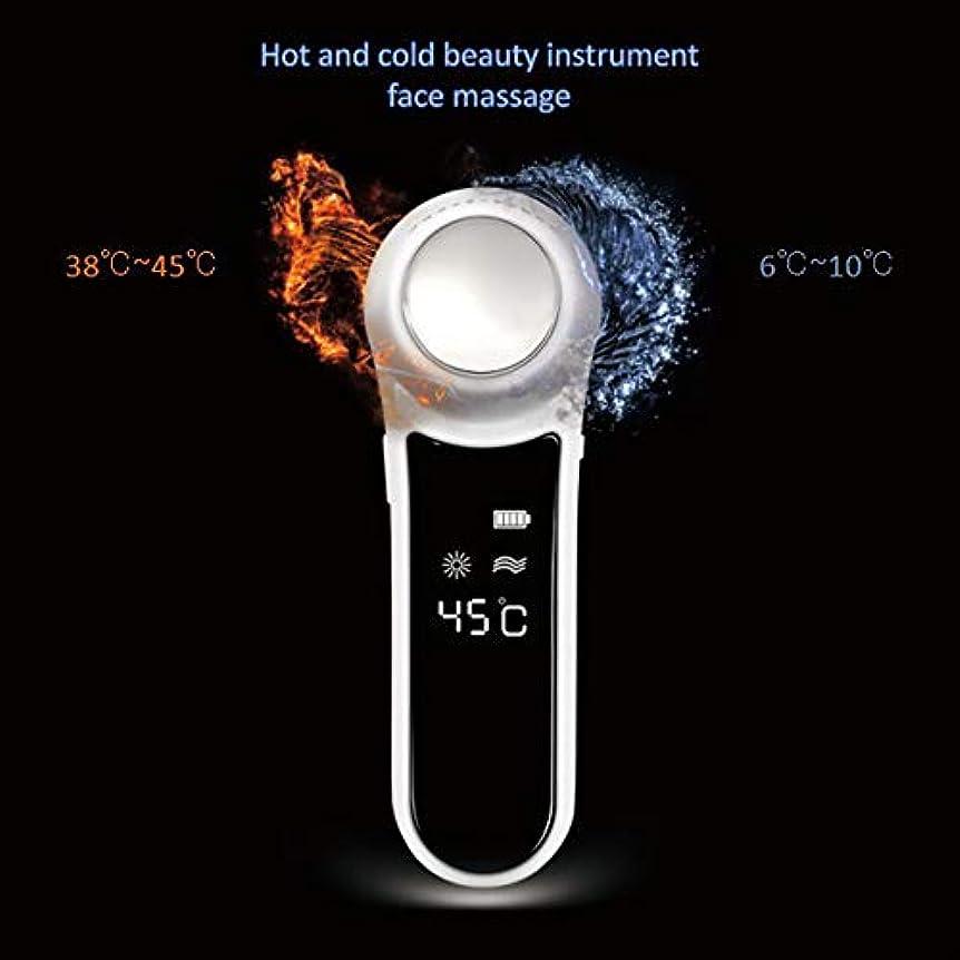 閉じ込めるバージン無効にするフェイシャルマッサージ、高周波振動加熱イオン導入マッサージ、多機能美容機器振動ホットロンクリーニングマスク楽器