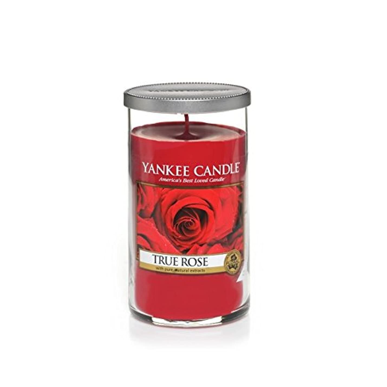 ルーチン嵐が丘閉塞Yankee Candles Medium Pillar Candle - True Rose (Pack of 2) - ヤンキーキャンドルメディアピラーキャンドル - 真のバラ (x2) [並行輸入品]