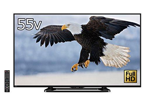シャープ 55V型 AQUOS フルハイビジョン 液晶テレビ 外付HDD対応(裏番組録画) Wi-Fi内蔵 LC-55W35