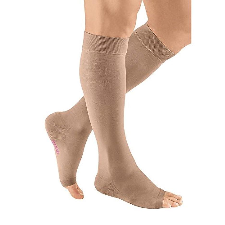 合意前にバスmediven plus Compression Stockings 20-30 Calf Open Toe Beige III by Medi