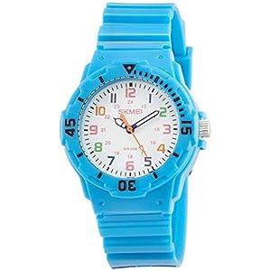 [スクメイ]SKMEI 腕時計 子供用ポップカラー スカイブルー 1043 ボーイズ 【並行輸入品】