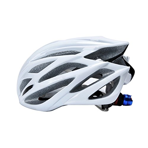 自転車サイクルヘルメット 大人用マウンテン クロス ロードバイク 超軽量 通気孔22個 頭囲サイズ調整可能 夜安心安全LEDライト付 アジアフィッティング設計 AUGYMER約54cm-62cm