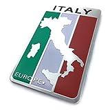 【Cat fight】 イタリア 国旗 アルミ製 プレートステッカー デコレーションステッカーラベル 車 エンブレム