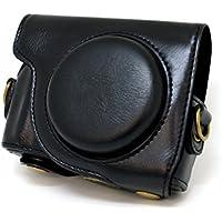 【ロワジャパン】CANON キャノン PowerShot S100 S110 S120 S200 専用カメラケース【黒】