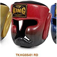 トップキング TOP KING キックボクシング ヘッドギア スーパースター 赤 Mサイズ