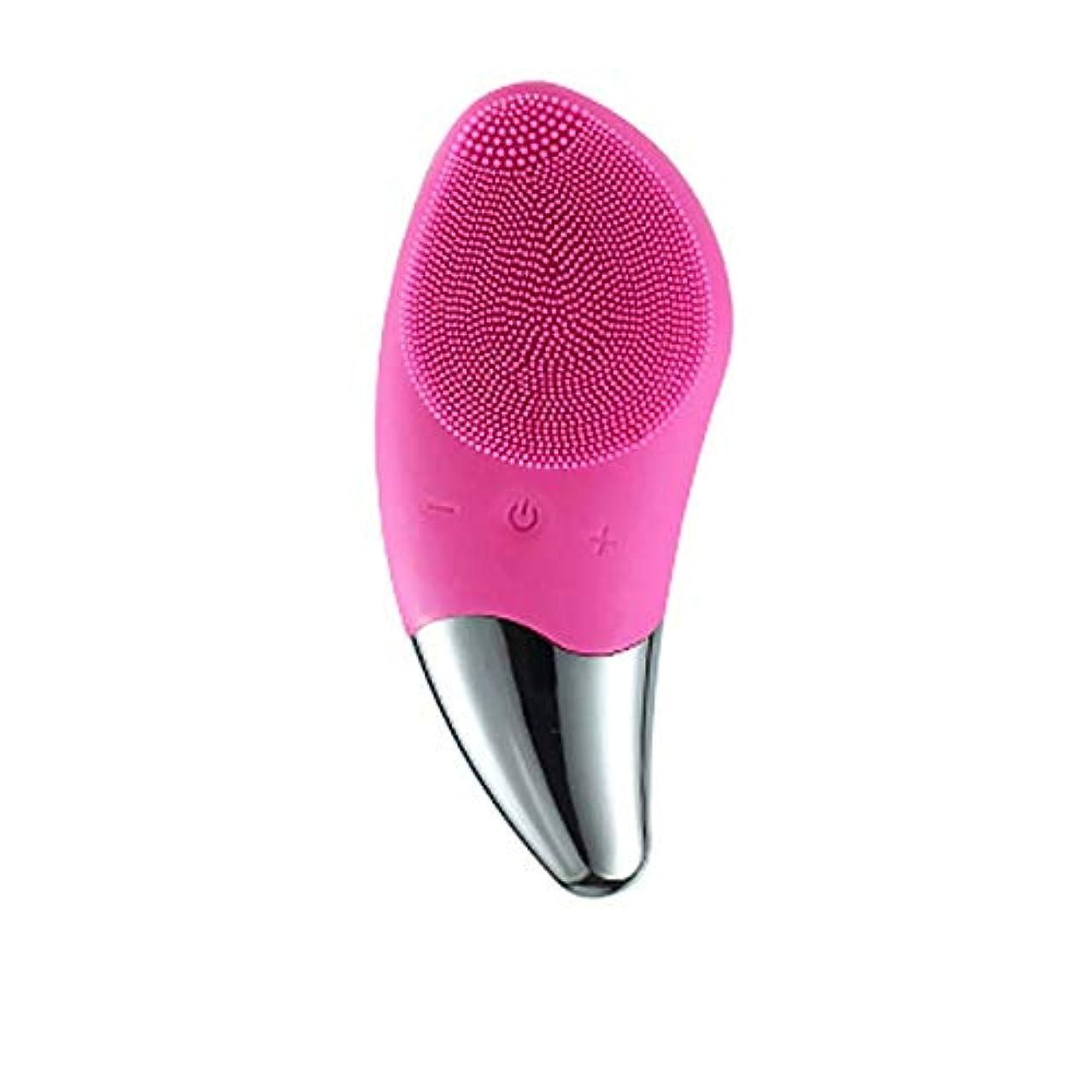 のど伝染性の名門新しい115°F加熱クレンジング器具シリコーン洗浄器具電動洗浄ブラシ洗浄アーチファクト毛穴洗浄ブラシ