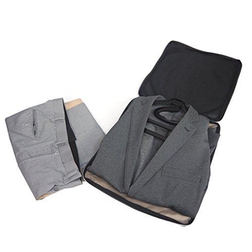 【期間・数量限定】コンパクトガーメントケース SLIM ジャケットやスーツをコンパクトに収納 超軽量 旅行 出張 (ネイビー)