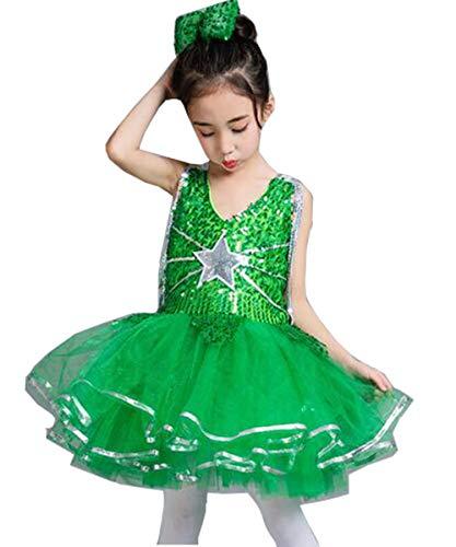 8a3c7607a953c Grepeace スパンコール ダンス衣装 ワンピース 衣装 ドレス チュチュスカート 子供 キッズ 女の子 ダンス衣装 ワンピース ジュニア