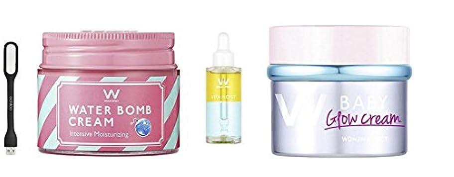 地質学かりてあざWONJIN EFFECT 3 pcs : ウォンジンベビーグロークリーム(baby glow cream)45ml)ピンクハル(PINKHARU) +ウォンジンエフェクトビターモイストアンプル [Vita-Moist...