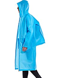 WY レインコート、バックパックの場所EVAロングアウトドア旅行防水ダブルヘッドジッパーの外套 屋外 (色 : 青, サイズ さいず : L l)