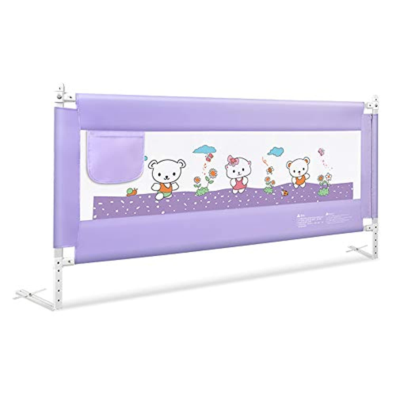 LHA ベッドガード?フェンス 頑丈な折り畳み可能なベビーベッドの手すり(L - 1.5m、L - 1.8m、L - 2.0m) - 子供の安全なベッドのベゼル (サイズ さいず : L-1.8m)