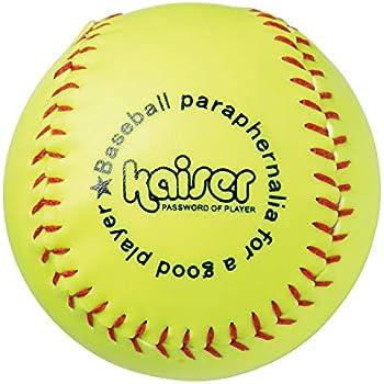 Kaiser(カイザー) ソフト ボール 3号 イエロー KW-022 コルク 練習用 レジャー ファミリースポーツ