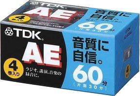 TDK オーディオカセットテープ AE 60分4巻パック [AE-60X4G]