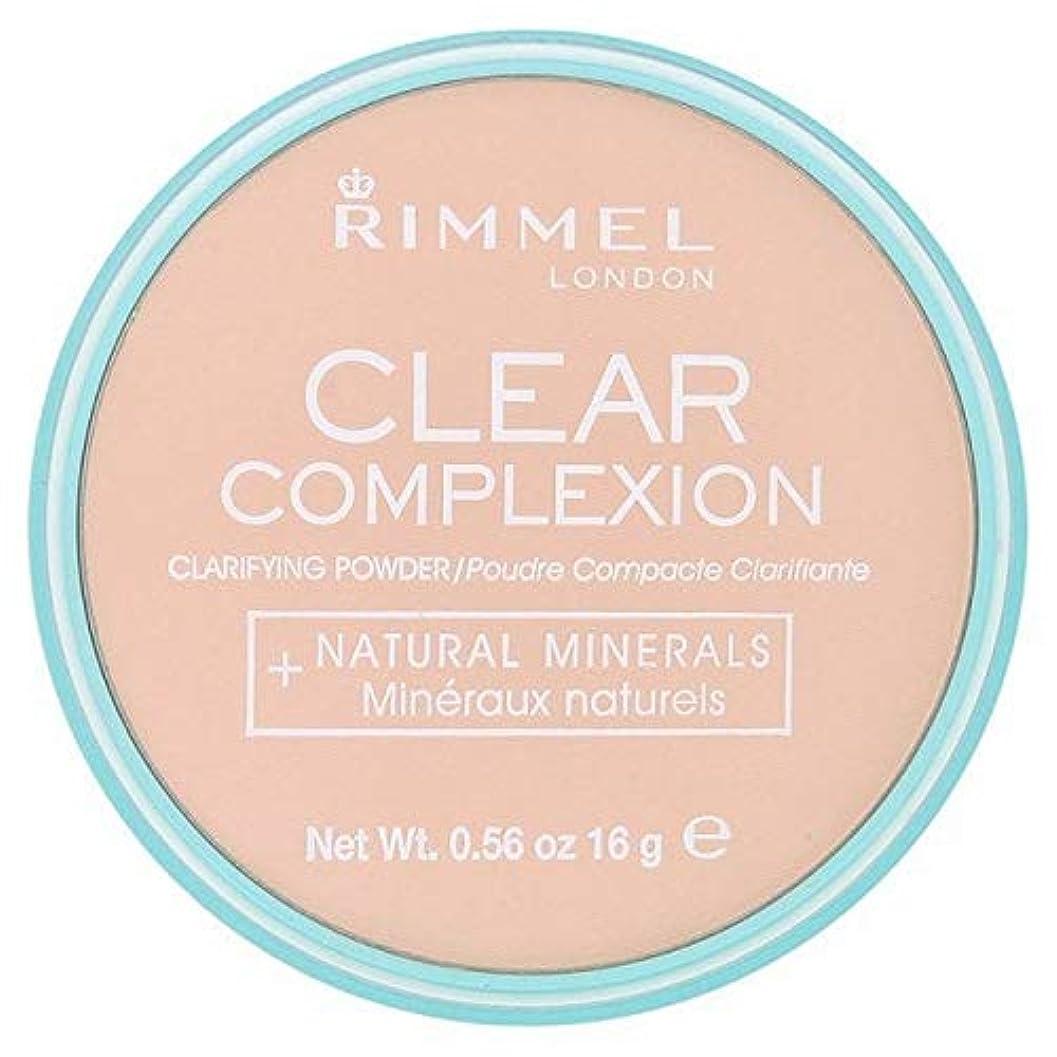 [Rimmel ] 21透明リンメル明確な顔色粉末 - Rimmel Clear Complexion Powder Transparent 21 [並行輸入品]