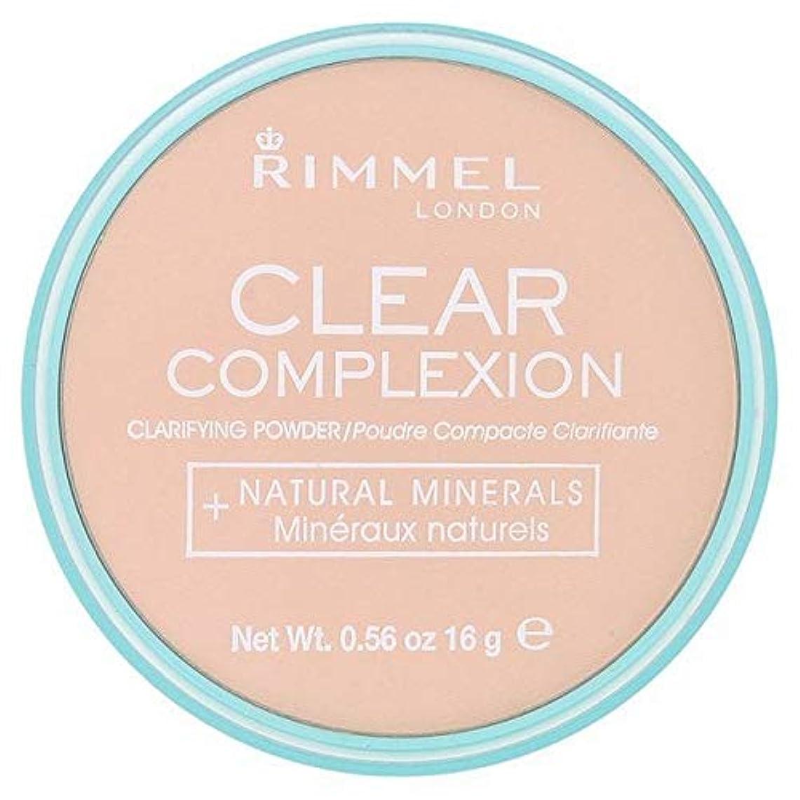 摂氏石炭奇跡的な[Rimmel ] 21透明リンメル明確な顔色粉末 - Rimmel Clear Complexion Powder Transparent 21 [並行輸入品]