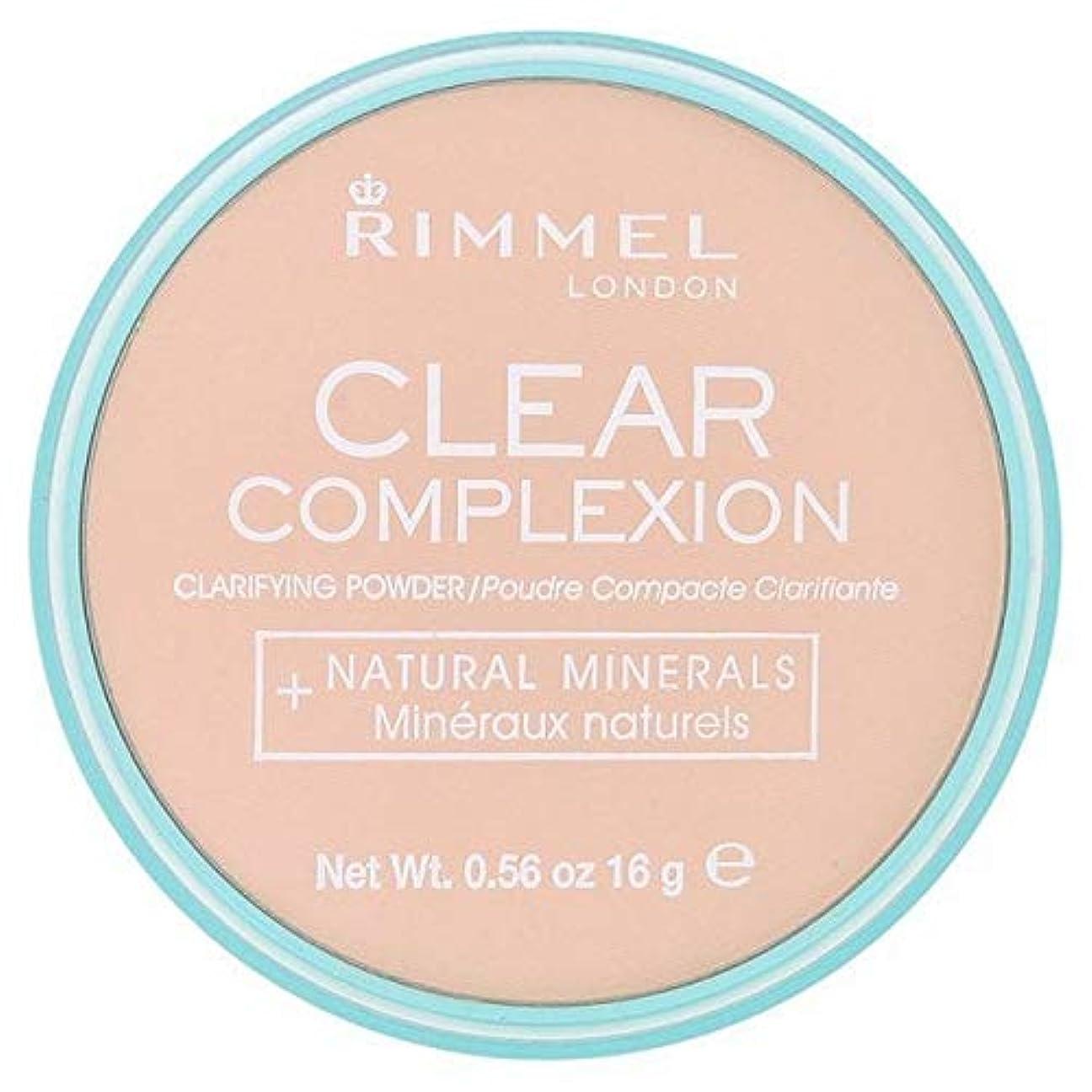 単調なブレースお[Rimmel ] 21透明リンメル明確な顔色粉末 - Rimmel Clear Complexion Powder Transparent 21 [並行輸入品]