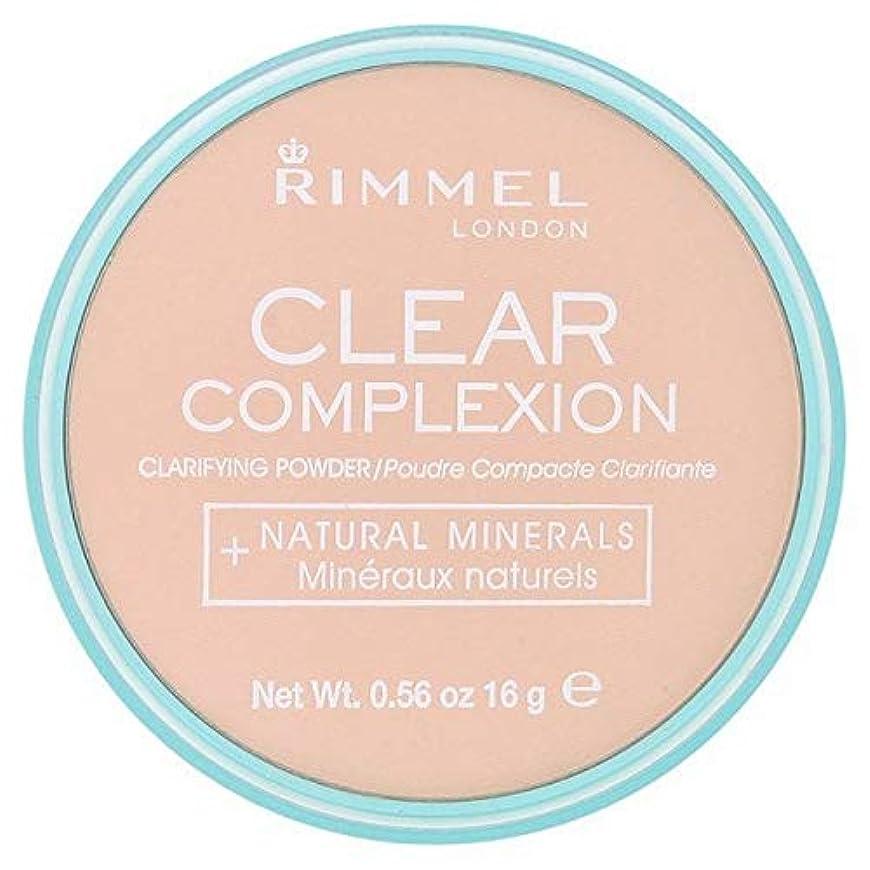 潜む囲いセッション[Rimmel ] 21透明リンメル明確な顔色粉末 - Rimmel Clear Complexion Powder Transparent 21 [並行輸入品]