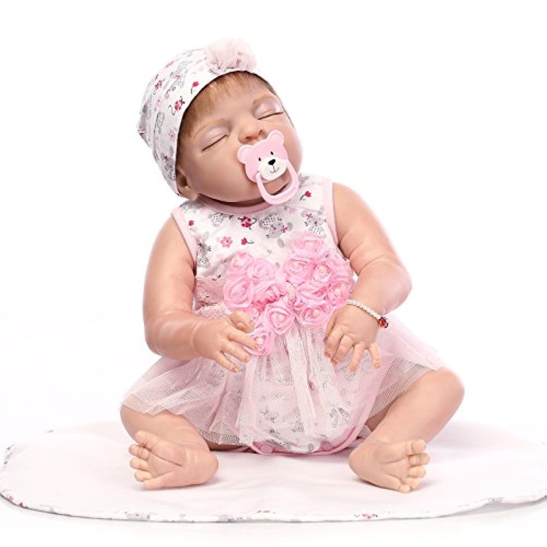 NPK collectionフルシリコンビニールボディ23インチ57 cm Realistic Looking Rebornベビーガール人形Real Life Like Baby Dolls新生児幼児用磁気口Xmasギフト